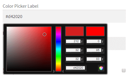 Color picker field