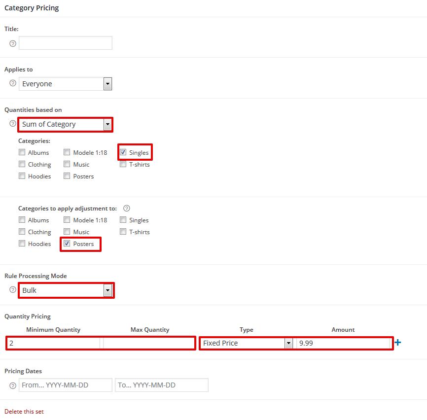 Bulk Processing Mode Example