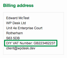 VAT Number in WooCommerce Emails - DIY Method