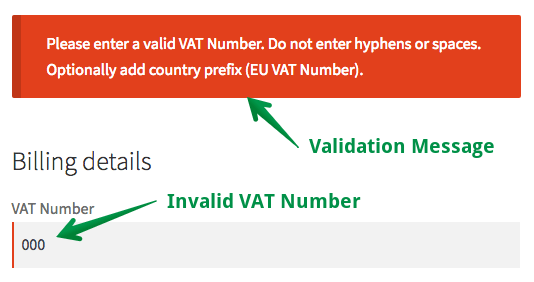 VAT Number Validation in WooCommerce Checkout