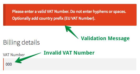 VAT Number Validation in WooCommerce Checkout
