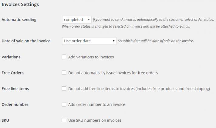 WooCommerce Invoices