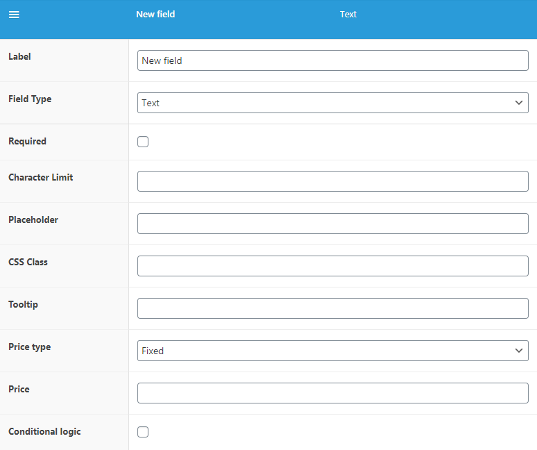 WooCommerce Flexible Product Fields - Fields Settings