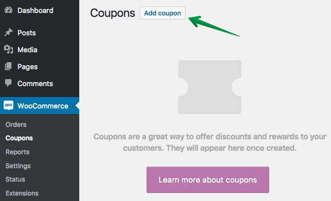 Adding Your First WooCommerce Coupon