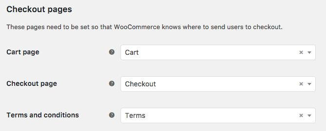 WooCommerce Checkout Pages