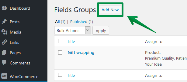 Add new fields in Flexible Product Fields