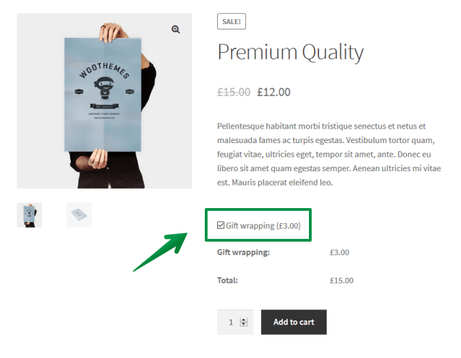 woocommerce product personalization options plugin - checkbox