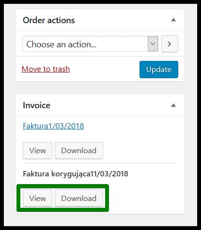 Manual correction of invoice 3