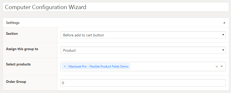Computer Configuration Wizard - fields' settings