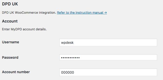WP Desk WooCommerce DPD UK settings