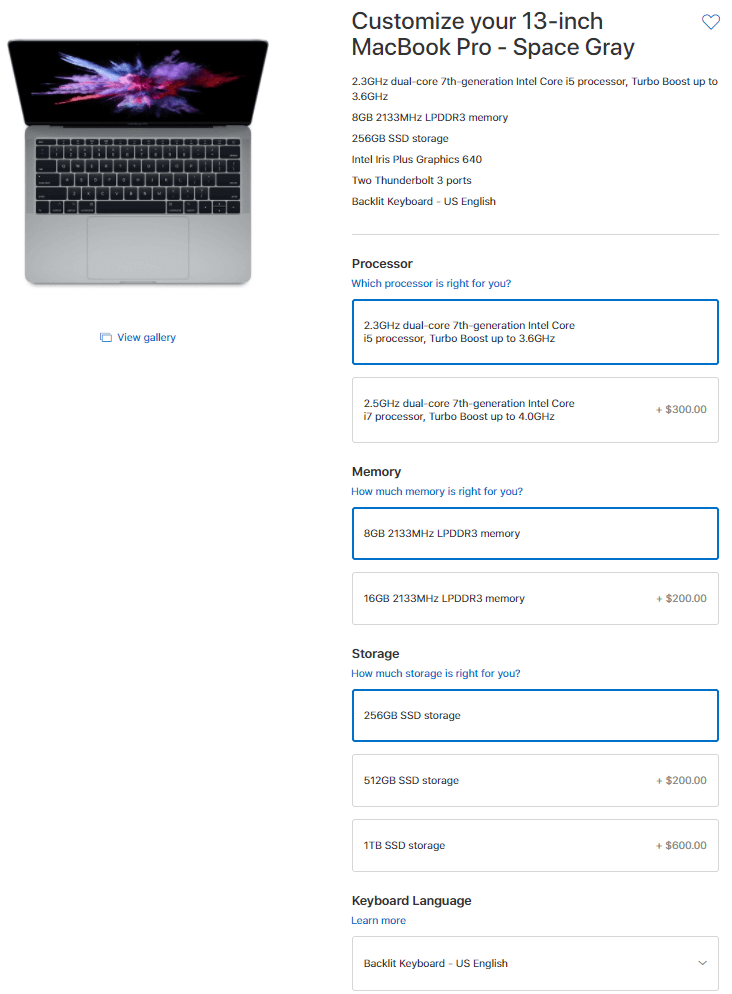 MacBook Pro Customization - Apple.com
