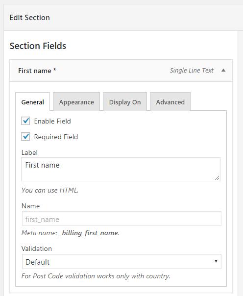 Field Configuration