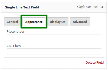 WooCommerce Custom Billing Fields: Appearance Settings
