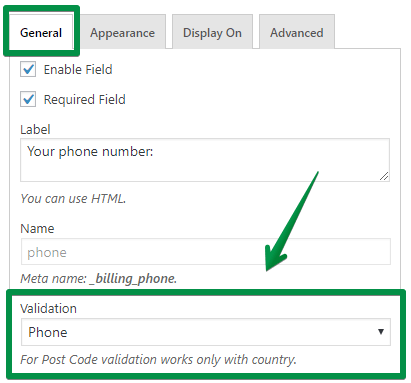 Phone number validation