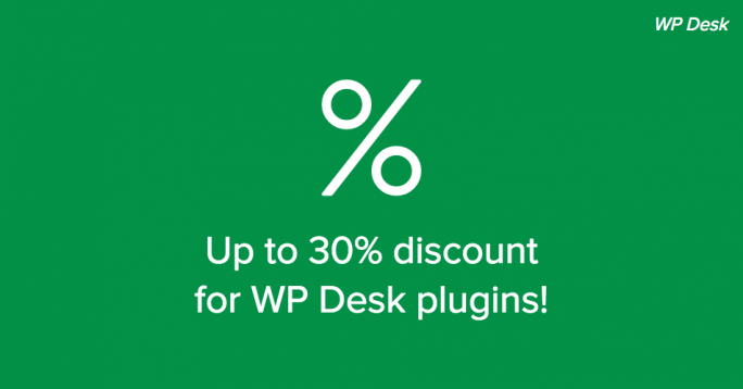 30% summer sale without WP Desk coupon