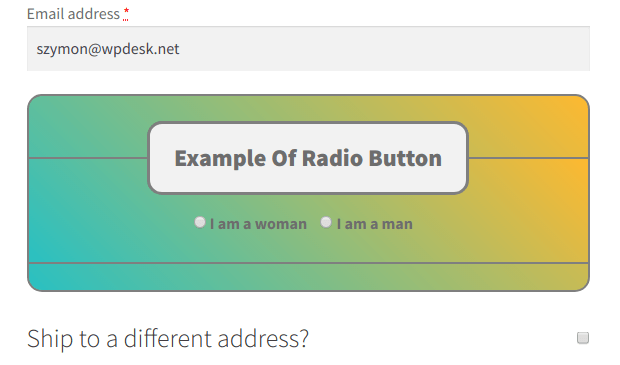 Example of Radio Button styling