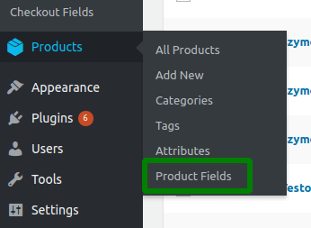 Flexible Product Fields in WordPress menu