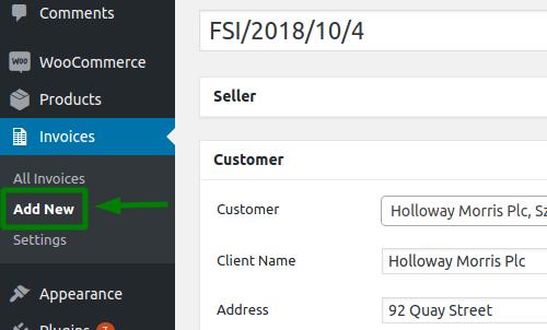 Add new invoice