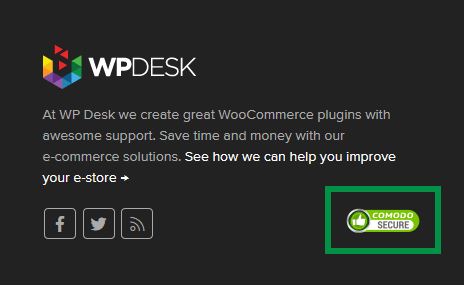 WP Desk site secured