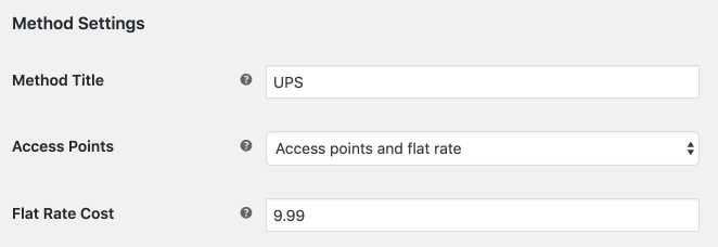 UPS WooCommerce PRO Access points and flat rate