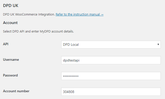 integrate DPD Local with WooCommerce settings