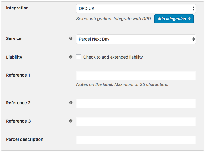 integrate DPD Local with WooCommerce shipping method
