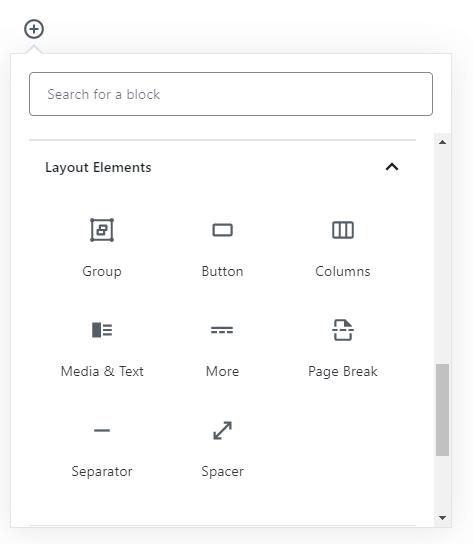 Grouping blocks in WordPress 5.3