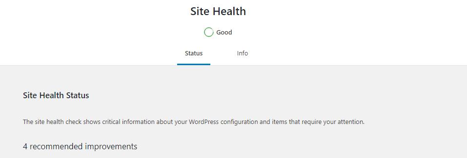 WordPress 5.3 Site health
