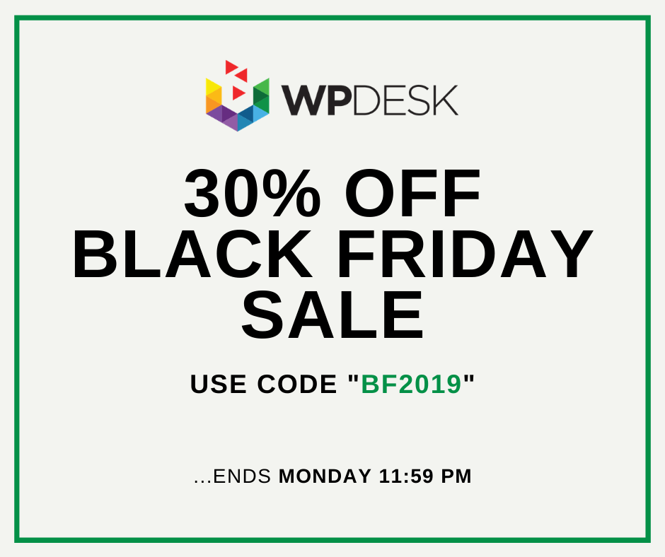Black friday 2019 WP Desk