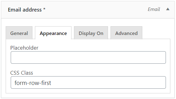 First confirm email address field