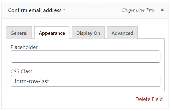 Second confirm email address checkout field