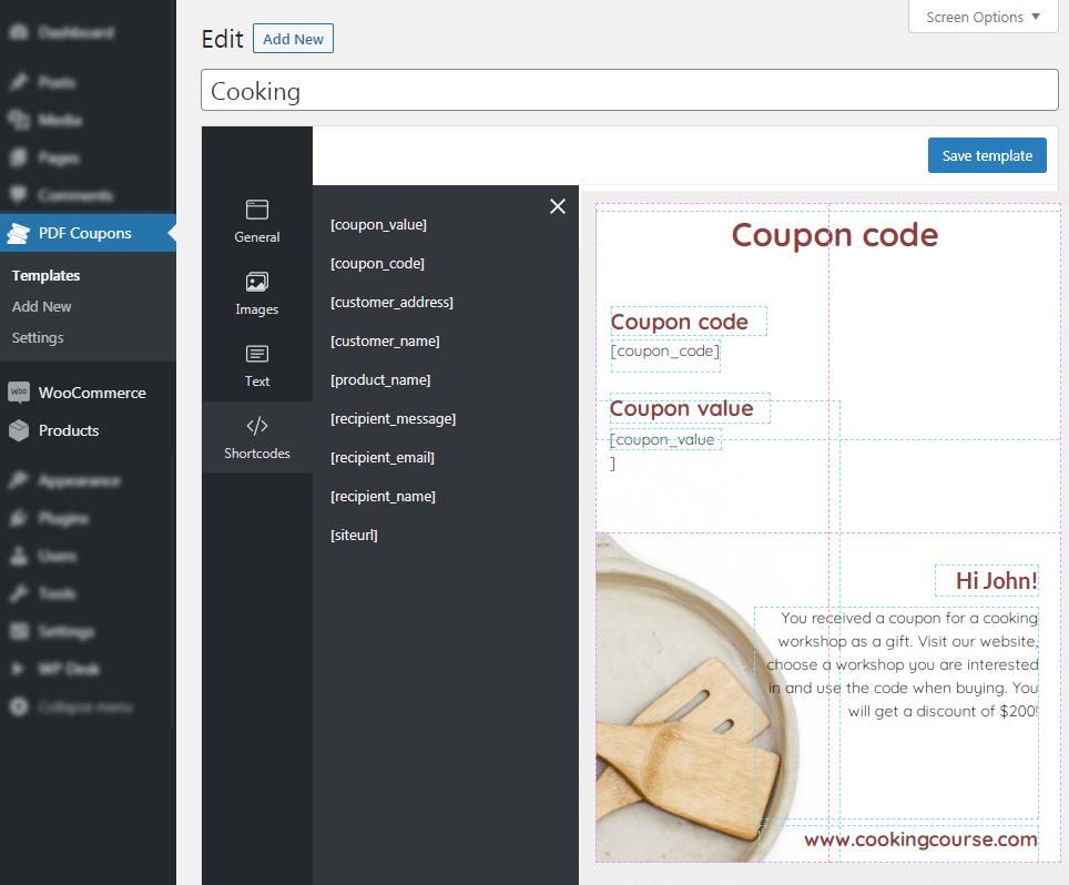 PDF Coupons Editor