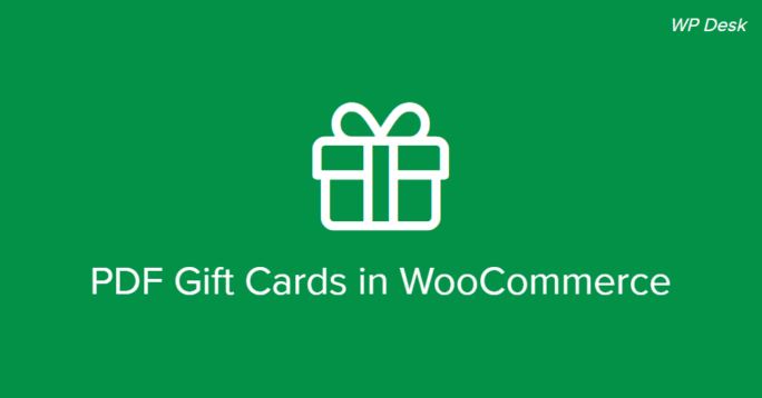 PDF Gift Cards WooCommerce