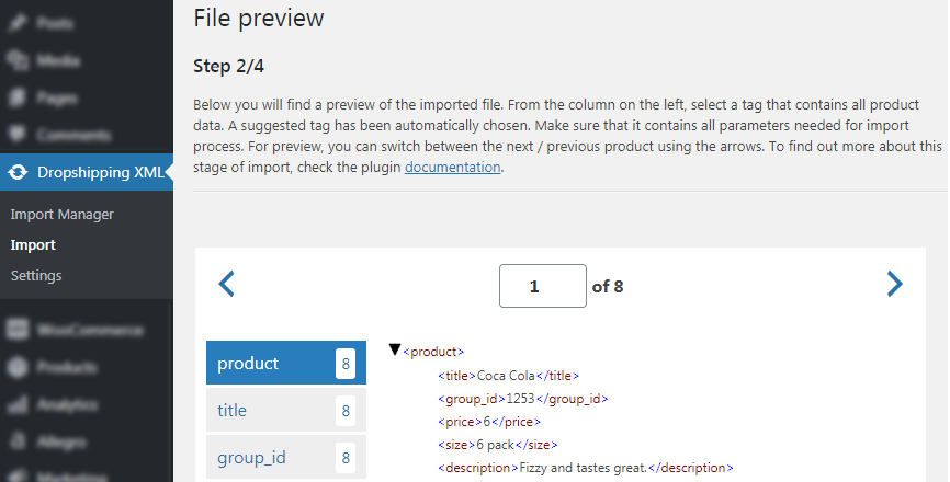Dropshipping XML WooCommerce - Import