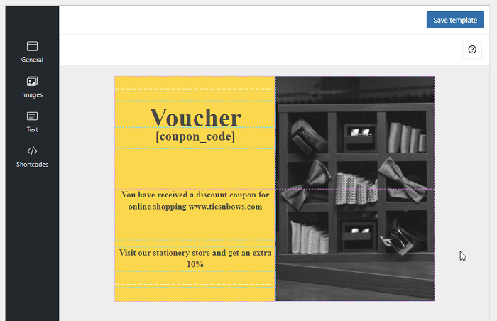 Woocommerce gift voucher package for variations